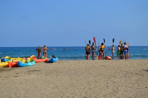 Dažnai paplūdimiuose įvairios vandens pramogos